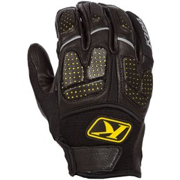 Klim Mens Dakar Pro Leather MX Offroad Riding Gloves Black