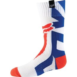 Fox Racing Youth Boys MX Shiv Riding Socks Pair White