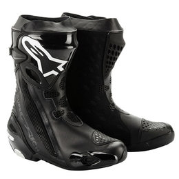 Black Alpinestars Supertech R Vented Boots 2012 Us 6.5 Eu 40
