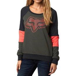 Fox Racing Womens Cohesion Scoop Neck Pullover Sweatshirt Green
