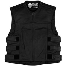 Black Brand Mens Pinion Leather Vest