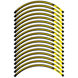 Rascal Grafik Shinko Wheel Stripe Kit For 17 Inch Wheels Yellow Universal