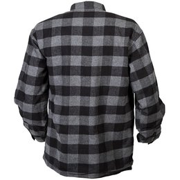 Scorpion Mens Covert Reinforced Flannel Riding Shirt Grey, Black