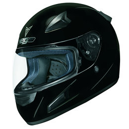 Gloss Black Vega Mens X888 X-888 Full Face Helmet 2013