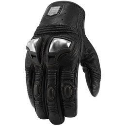 Icon Mens 1000 Collection Retrograde Leather Gloves Black