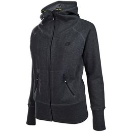 Troy Lee Designs Womens Rally Cotton Blend Zip Up Hoodie Grey
