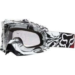Black, White Fox Racing Mens Airspc Encore Goggles With Clear Lens 2014 Black White
