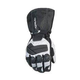 Cortech Mens Cascade 2.1 Leather Snowmobile Gloves Grey