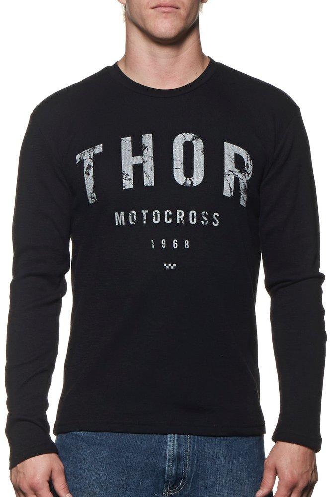 Thor mens shop long sleeve thermal t shirt 228003 for Mens black thermal t shirts