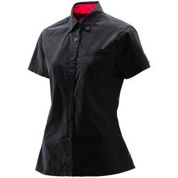 Troy Lee Designs Womens Shop Cotton Blend Button Up Shirt Black