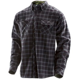 Troy Lee Designs Mens Washboard Long Sleeve Woven Button Up Shirt Black