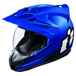 Icon Variant Double Stack Dual Sport Helmet With Visor Blue