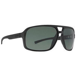 Black Satin Vonzipper Decco Sunglasses Grey