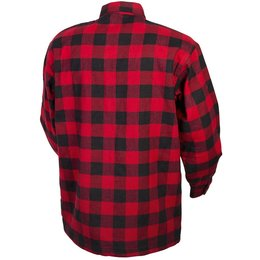 Scorpion Mens Covert Reinforced Flannel Riding Shirt Red