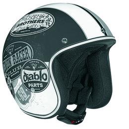 Monochrome Black Vega Mens X-380 X380 Old Skool Open Face Helmet 2013