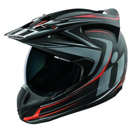 Icon Variant Raiden Dual Sport Full Face Motorcycle Helmet With Anti-Lift Visor Black