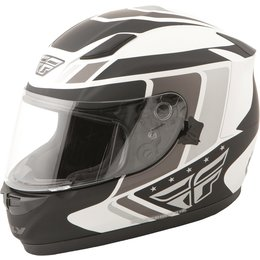 Fly Racing Conquest Retro Full Face Helmet White