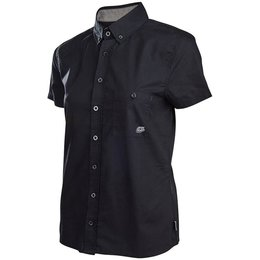 Troy Lee Designs Womens Streamline Shop Cotton Blend Button Up Shirt Black