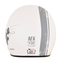 AFX FX-76 FX76 Raceway Open Face Helmet White