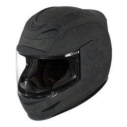 Black Rubatone Icon Mens Airmada Chantilly Full Face Helmet 2014