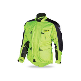 Flo Yellow Fly Racing Mens Terra Trek Iii 3 Textile Jacket 2015 Black