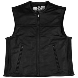 Black Brand Mens Dagger Leather Vest