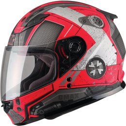 GMAX Youth GM49Y Trooper Full Face Helmet With Flip-Up Shield Red