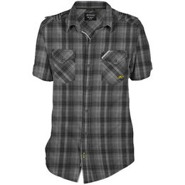 Klim Mens Downtime Poly Blend Short Sleeve Button Up Casual Shirt Black