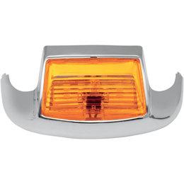 Drag Specialties Front Fender Tip Light For Harley Chrome Amber 2040-0581