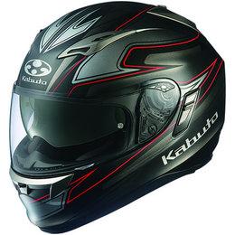 Flat Black Kabuto Mens Kamui Fluente Full Face Helmet 2014