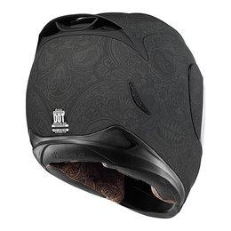 Black Rubatone Icon Mens Airmada Chantilly Full Face Helmet 2014