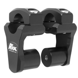 ROX Pivoting Handlebar Risers For 2 IN X 1 1/8 IN X 1 1/8 IN Black 1R-P2PPK Black