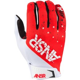 Answer Mens Limited Edition Elite Halo MX Motocross Riding Gloves February Red