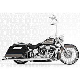 Freedom Performance Exhaust Sharktail True Duals 32 Inch Chrome FLST FXST 97-06
