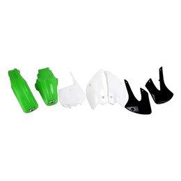 UFO Plastics Complete Replacement Plastics Kit Green White Black For Kaw KX450F