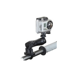 RAM Mount Hbar Rail Mount U-Bolt Standard Dbl Socket Arm 1 Inch Ball GoPro Adptr