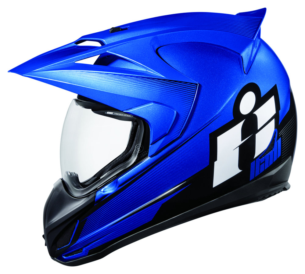 375 00 Icon Variant Double Stack Dual Sport Helmet With