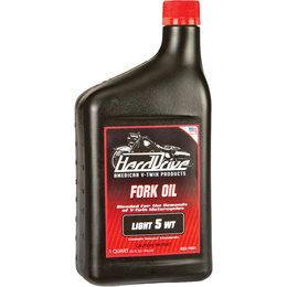 HardDrive Fork Oil 5 Wt 1 Qt 12/Case For Harley-Davidson 2309-042B Unpainted