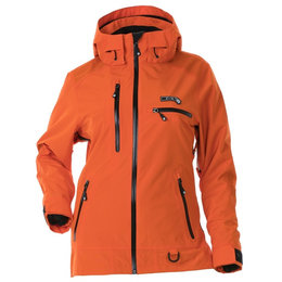 Divas Womens Prizm Waterproof Shell Technical Snowmobile Jacket Orange