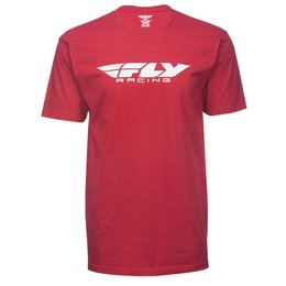 Fly Racing Mens Corporate T-Shirt Red