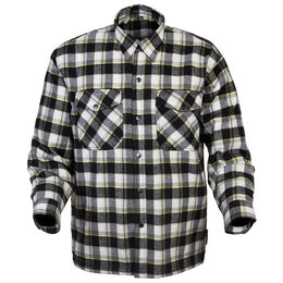 Scorpion Mens Covert Reinforced Flannel Riding Shirt Black