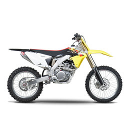 Stainless Steel Header, Stainless Steel Midpipe, Aluminum Muffler, Carbon Fiber End Cap Yoshimura Rs-4 Full Exhaust System Stainless Alum Carbon F Suzuki Rm-z450 08-13