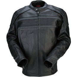 Z1R Mens 444 Leather Motorcycle Riding Jacket Black