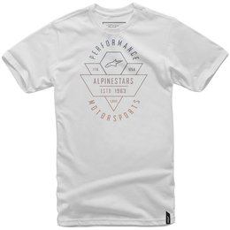 Alpinestars Mens Chevron T-Shirt White