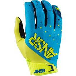 Answer Mens Limited Edition Elite Halo MX Motocross Riding Gloves February Blue