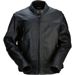 Z1R Mens 357 Leather Motorcycle Riding Jacket Black