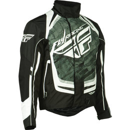 Black, White Fly Racing Mens Snx Pro Snow Jacket 2015 Black White
