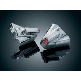 Kuryakyn Swingarm Covers Phantom Chrome For Harley FLST Silver