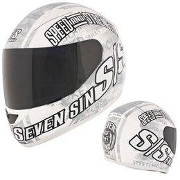 Speed & Strength SS1500 Seven Sins Full Face Helmet White