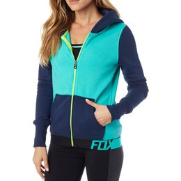 Fox Racing Womens Certain Zip Hoody Turquoise